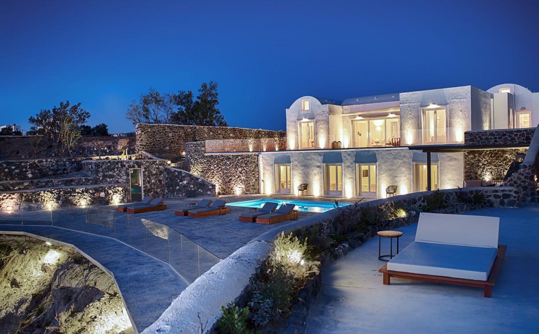 Night view of Nafsika Estate Santorini