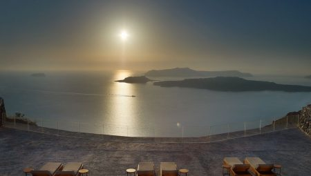 View Over The Volcano Of Santorini From Nafsika Villa