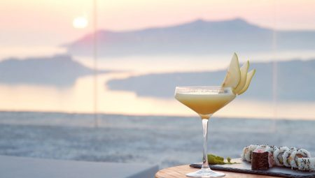 Cocktail Hour With Sea View From Private Villa Santorini
