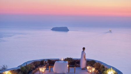 Romantic Dinner With Sunset View In Santorini